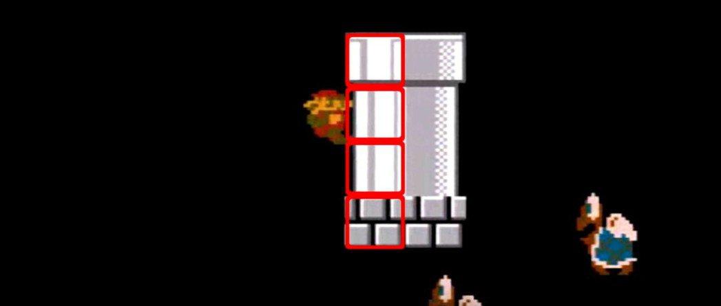 踩到特定的位置,可以達成「踩牆兩段跳」的技巧