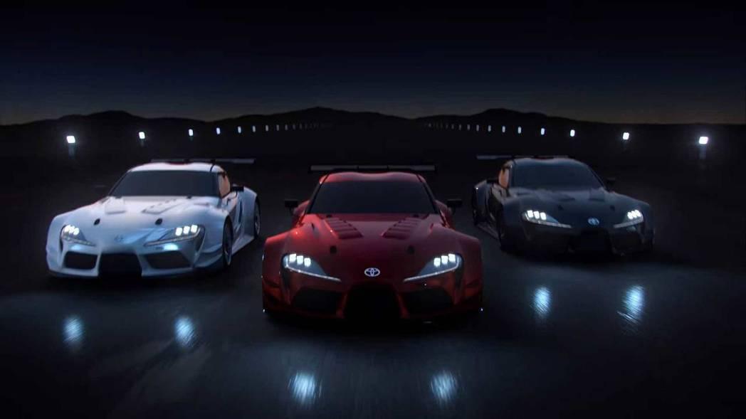 GT Sport 遊戲裡的GR Supra Racing Concept。 摘自...