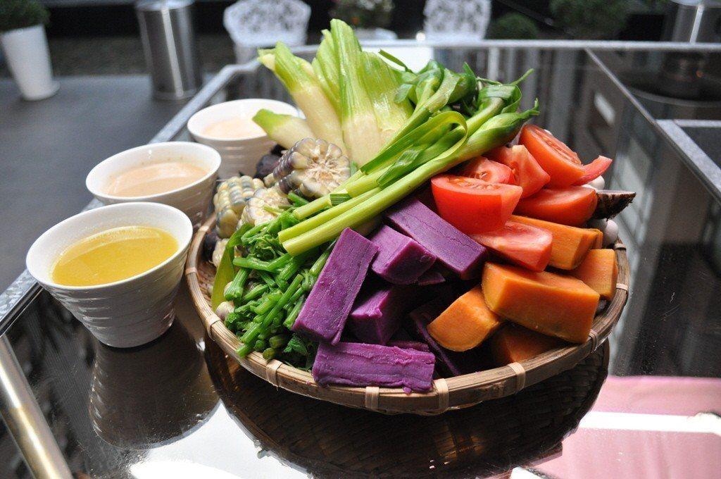 野菜盤。 圖/君品酒店頤宮中餐廳