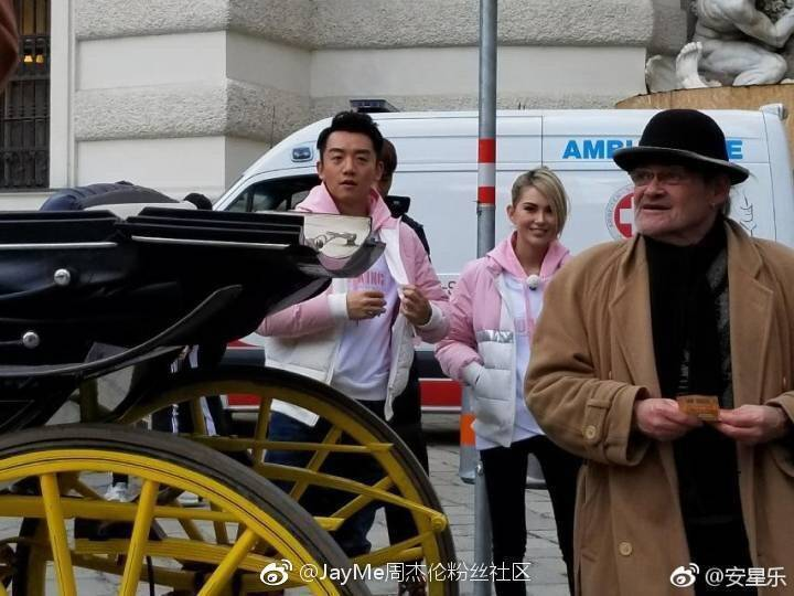 昆凌在維也納被拍到擔任「奔跑吧」第六季嘉賓。圖/摘自微博