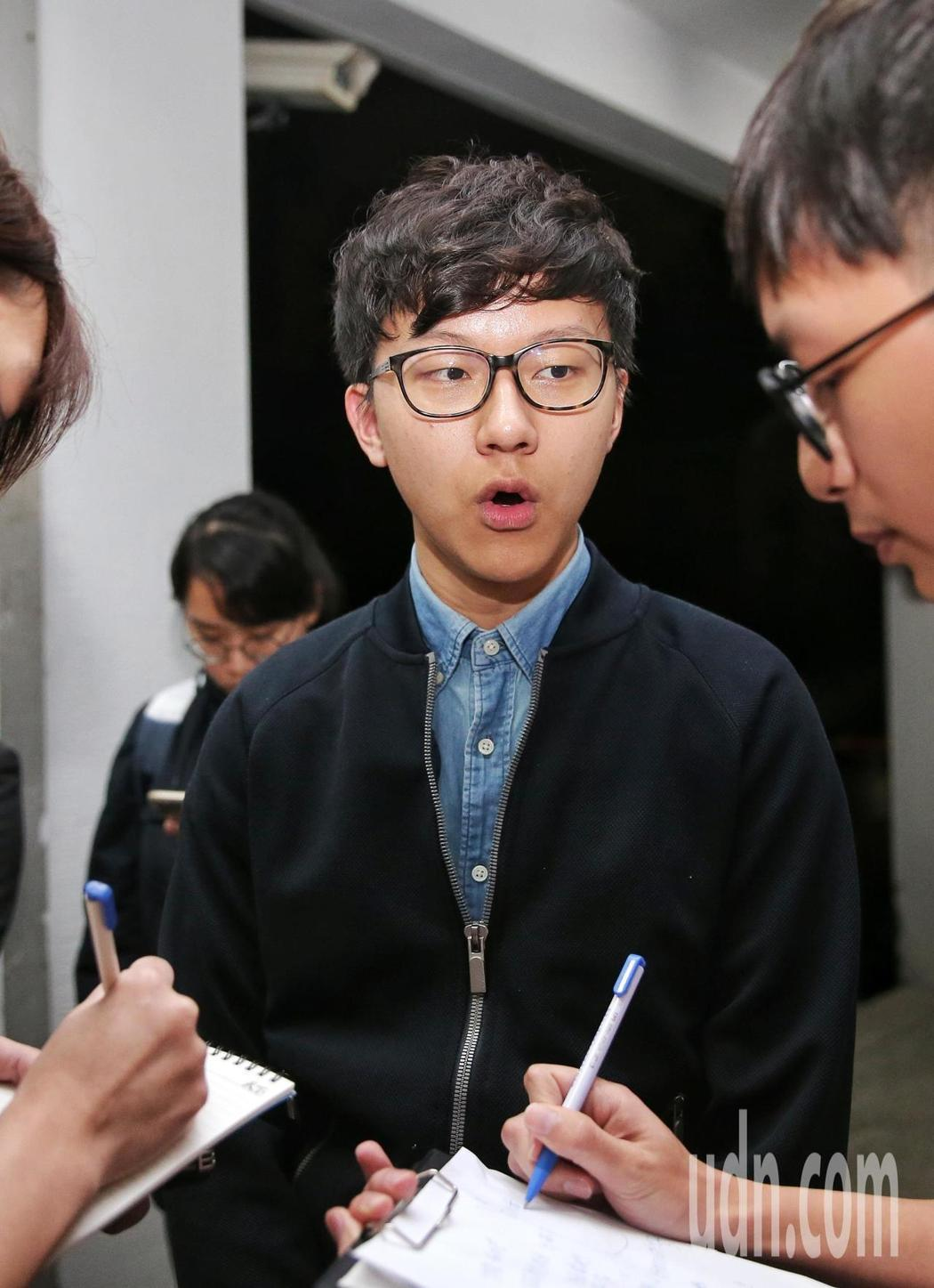台大學生會長林彥廷。記者鄭清元/攝影