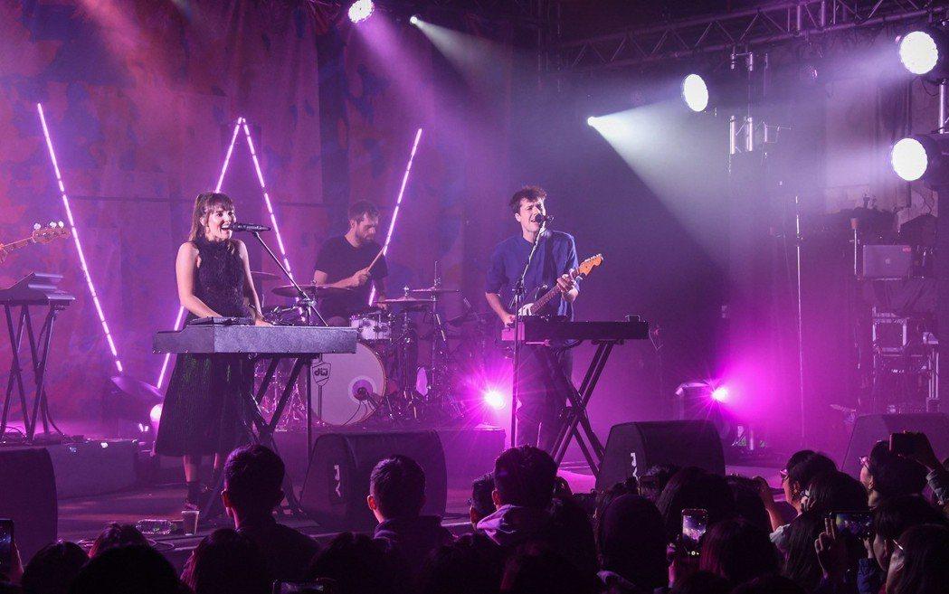 英國雙人團體Oh Wonder 汪德雙人組8日婦女節晚間在台北開唱。圖/Live...