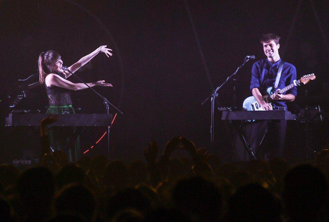 英國雙人團體Oh Wonder 汪德雙人組8日婦女節晚間在台北開唱。圖/Live