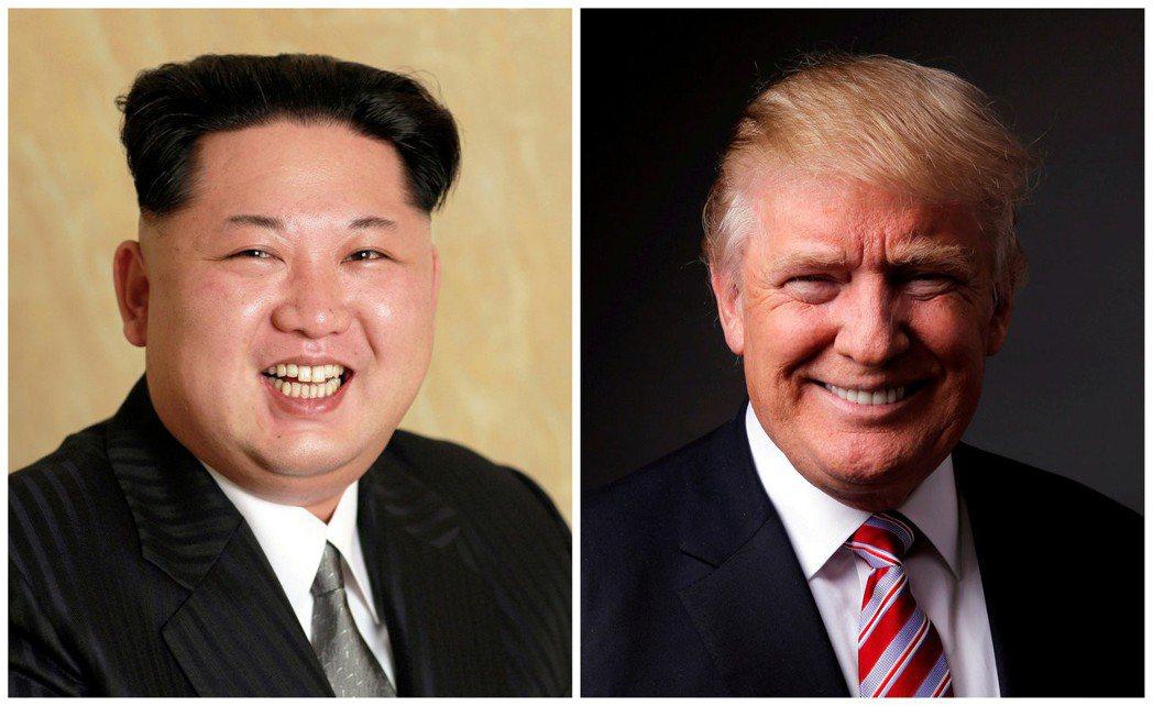 北韓領袖金正恩(左)邀請美國總統川普會談。路透