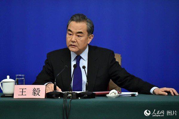 中共外交部長王毅。人民日報