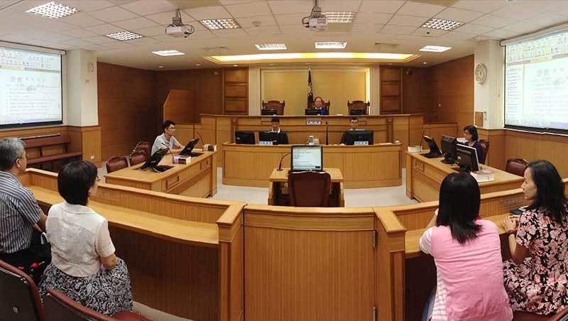 新北地方法院開庭。示意圖/記者袁志豪攝影