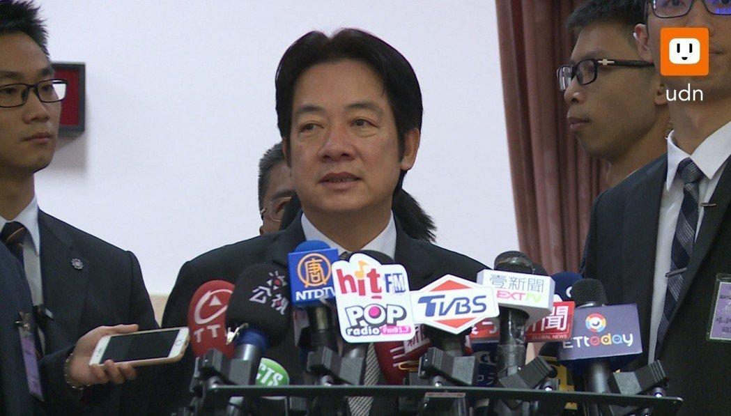 行政院長賴清德上午對台灣企業喊話,認為企業界對台灣的心都有,所以目前行政院最重要...
