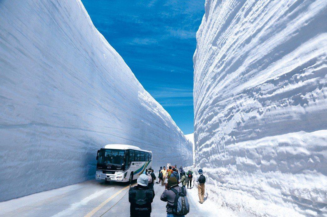 黑部立山大雪壁每年吸引上百萬遊客造訪。有行旅提供