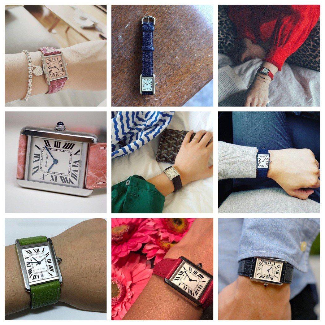 拍照上傳每日穿搭是現代人生活的樂趣,其可自行拆換色彩繽紛表帶的設計,彷彿「換新表...