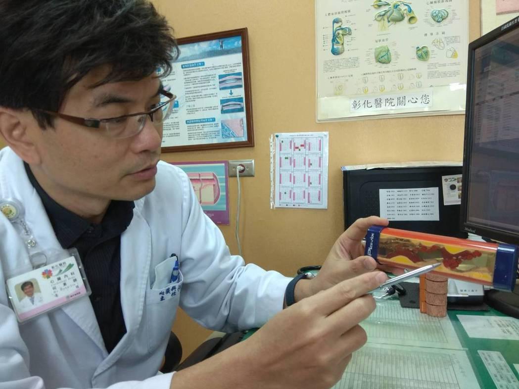 何東錦說,三高患者如果發生胸悶、胸痛、呼吸急促、冒冷汗等症狀應立即就醫,避免心肌...