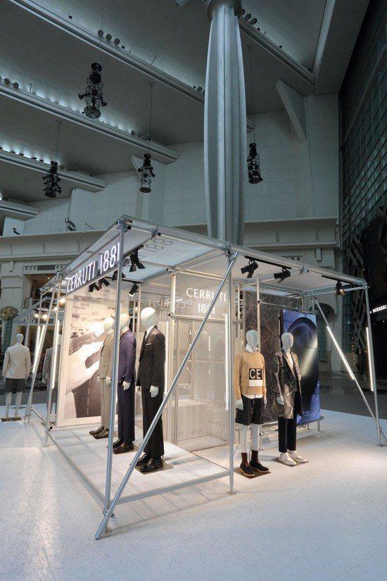 CERRUTI 1881在台北101舉辦慶賀50周年特展。圖/CERRUTI 1...