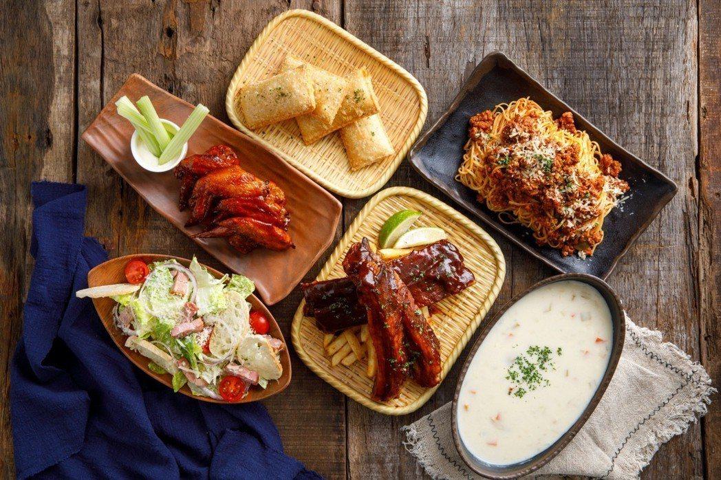 4人份滿悍套餐可享多道經典美式風味。圖/富邦旅管提供