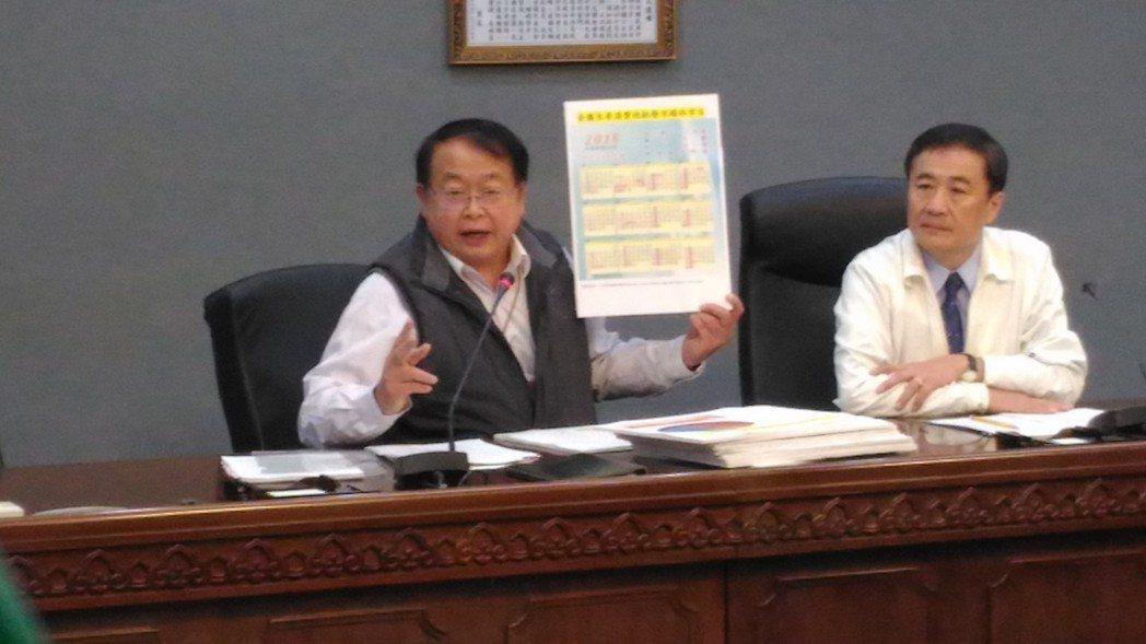 台北市市場處長許玄謀表示休市日為17個團體代班決議。記者莊琇閔/攝影