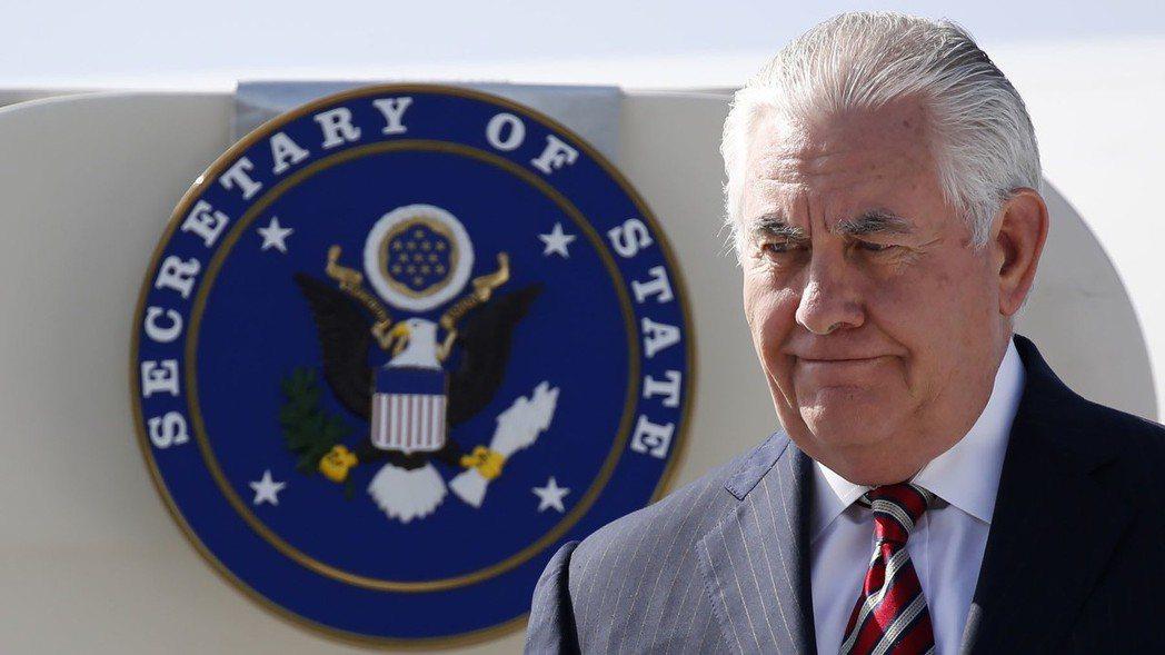 美國務卿提勒森。 美聯社