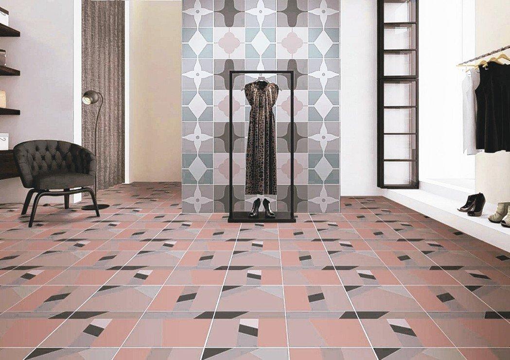 只要花色選擇得宜,磁磚的設計可以很復古也可以很經典。 冠軍磁磚/提供
