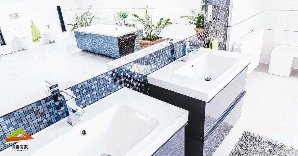 馬賽克或是有圖案的磁磚組可增加趣味,讓居家裝潢活潑有朝氣。 信義居家/提供