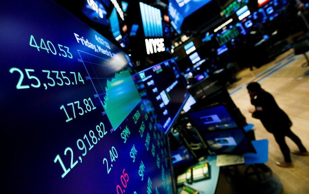 就業數據優於預期,推升美股大盤。 美聯社