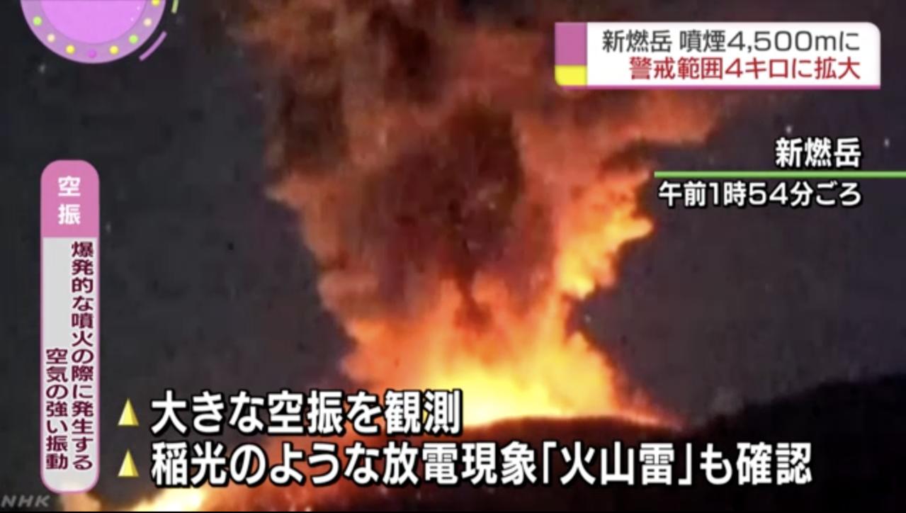 新燃岳火山凌晨發生較大規模噴發。日本氣象廳表示,不排除還會發生更多火山活動。呼籲...