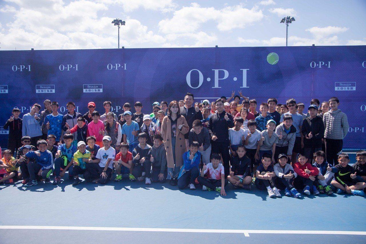 邁入第七年的美傑仕OPI盃,今日於台北市網球中心開打。圖/海碩整合行銷提供