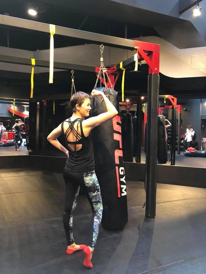 劉香慈近日積極健身,準備拍攝新戲。圖/摘自臉書