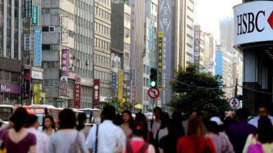 台北街頭商辦林立。 圖/聯合報系資料照片