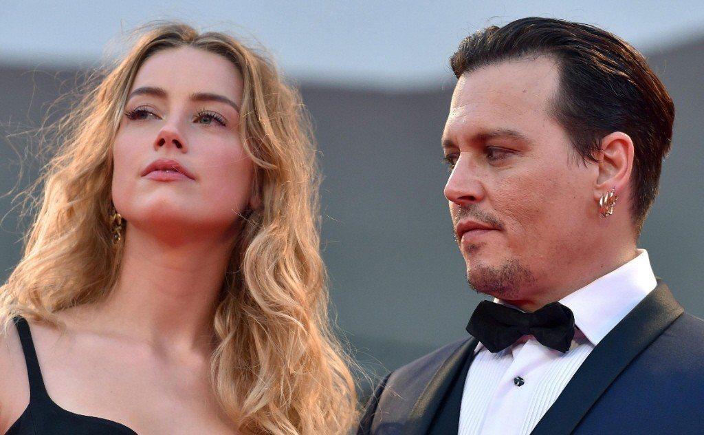 強尼戴普(右)與前妻安珀赫德(左)。 圖/歐新社資料照片