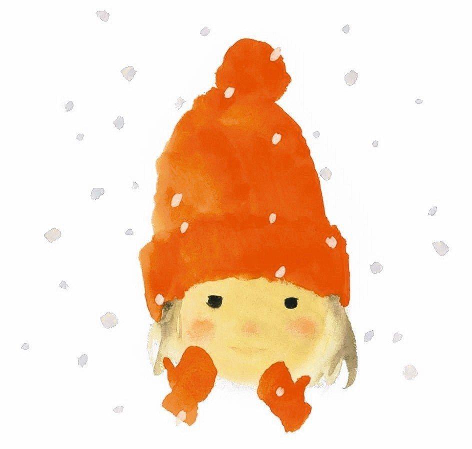 岩崎知弘插畫,出自《下雪天的生日》。 知弘美術館/提供