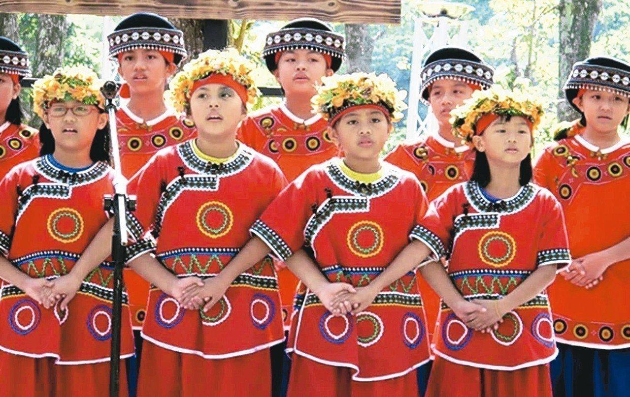 牡丹國小古謠合唱團《聽見牡丹》。 台灣音樂館/提供