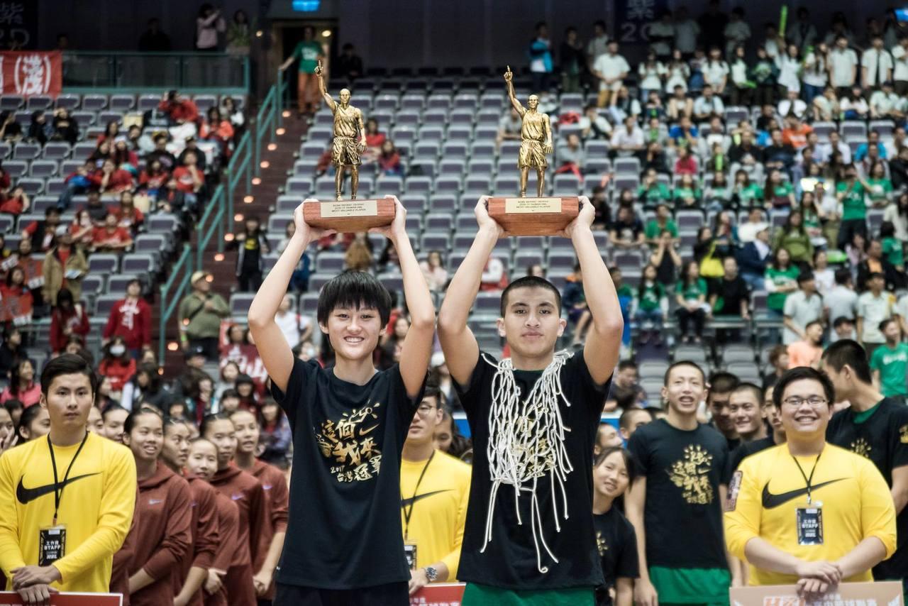 羅培甄(左)去年獲選為MVP。 報系資料照