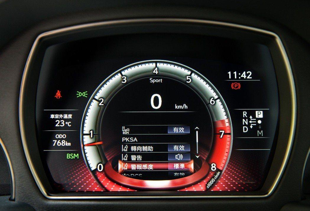 LEXUS LS 350搭載多樣化的安全科技。 記者陳立凱/攝影