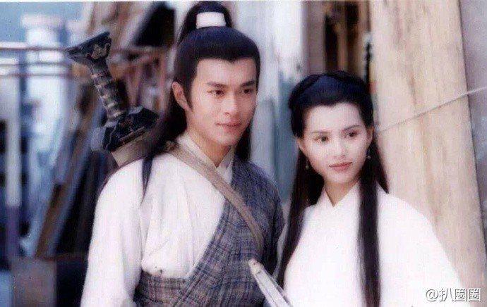 23年前的古天樂與李若彤。圖/摘自微博