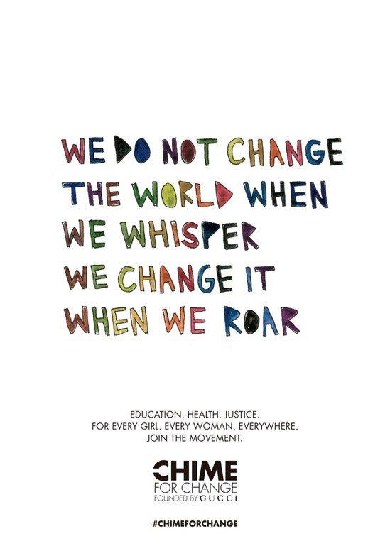 Gucci「CHIME FOR CHANGE 希望響鐘運動」今年攜手藝術家兼詩人...