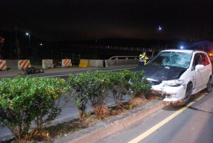 張姓男子酒駕高速撞擊谷姓女子的機車。圖/本報資料照片