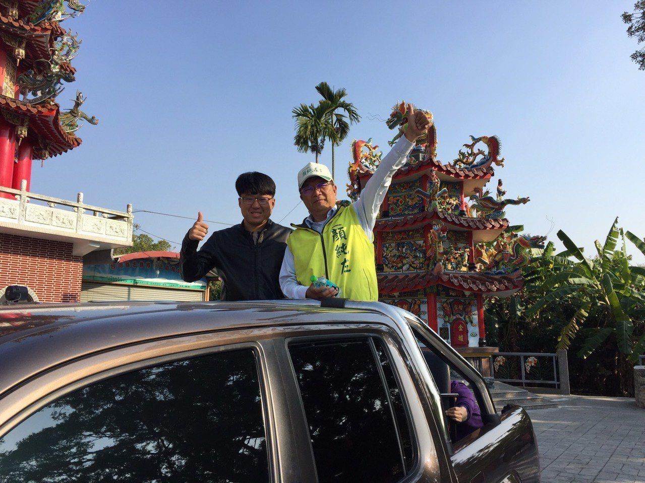 民進黨台南市長初選失利,顏純左(右一)連續兩天安排謝票。圖/顏純左服務處提供。