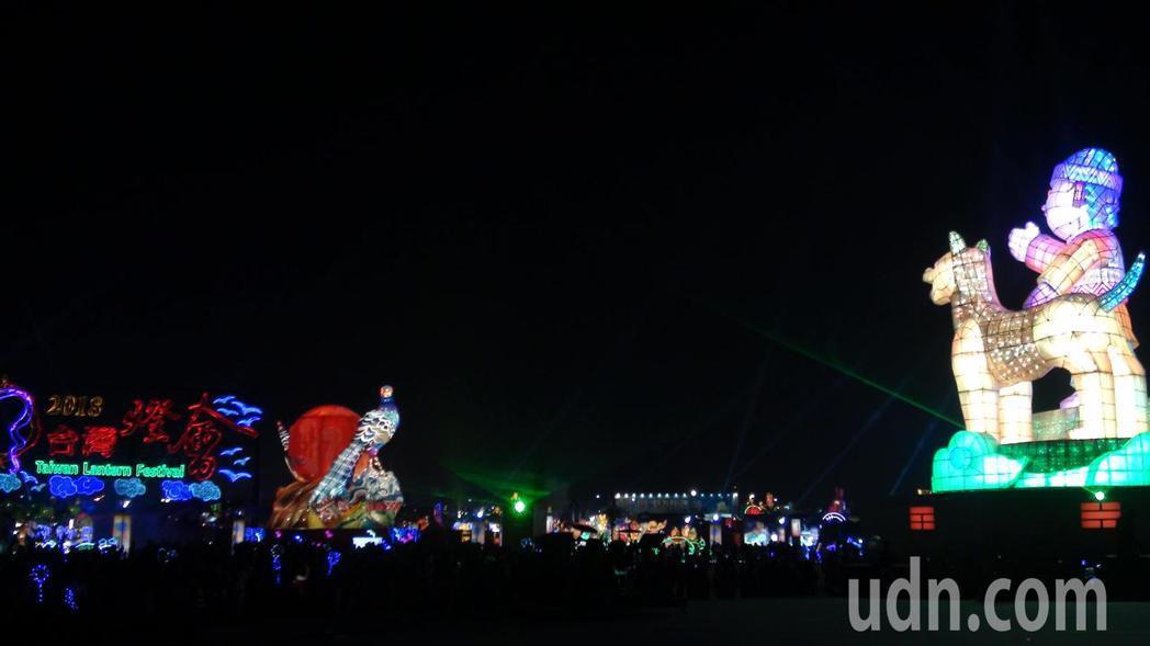 2018台灣燈會最後一次點亮,留給民眾許多回憶和懷念。記者謝恩得/攝影