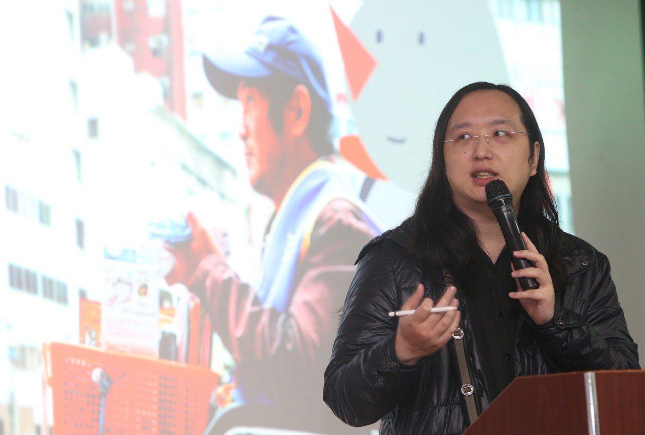 行政院政務委員唐鳳10日在台北,出席台灣新動力智庫主辦「解剖社會企業—社會企業的...