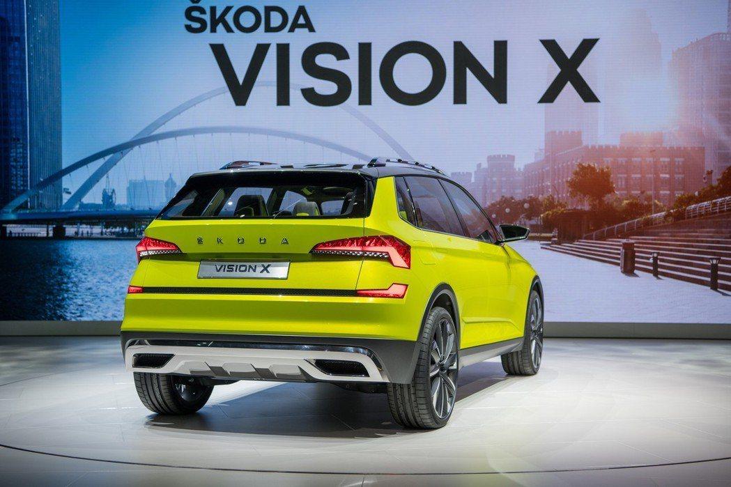 圖為ŠKODA Vision X Concept車尾。 摘自ŠKODA