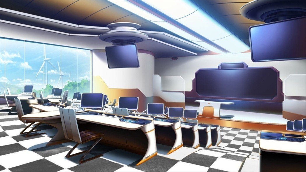 ▲「惠風學院」的教室設備也超越至今一個檔次,充斥著對未來科技的憧憬