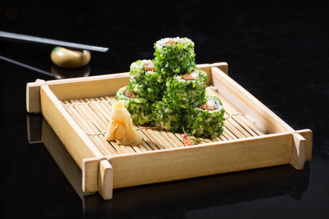 台北君悅酒店-美味九宮格-彩日本料理-火焰辣鮪魚壽司。