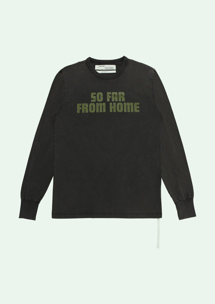 Off-White Art Dad限定系列標語長袖T恤,約11,000元。圖/摘...
