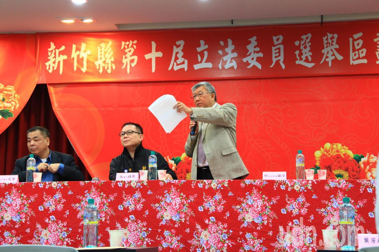 新竹縣長邱鏡淳表示,竹縣人口激增、年輕人口多,有其必要增加一席。記者郭政芬/攝影