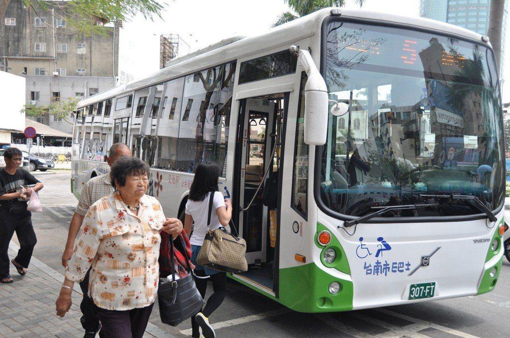 台南市府要整頓市區公車。圖/報系資料照