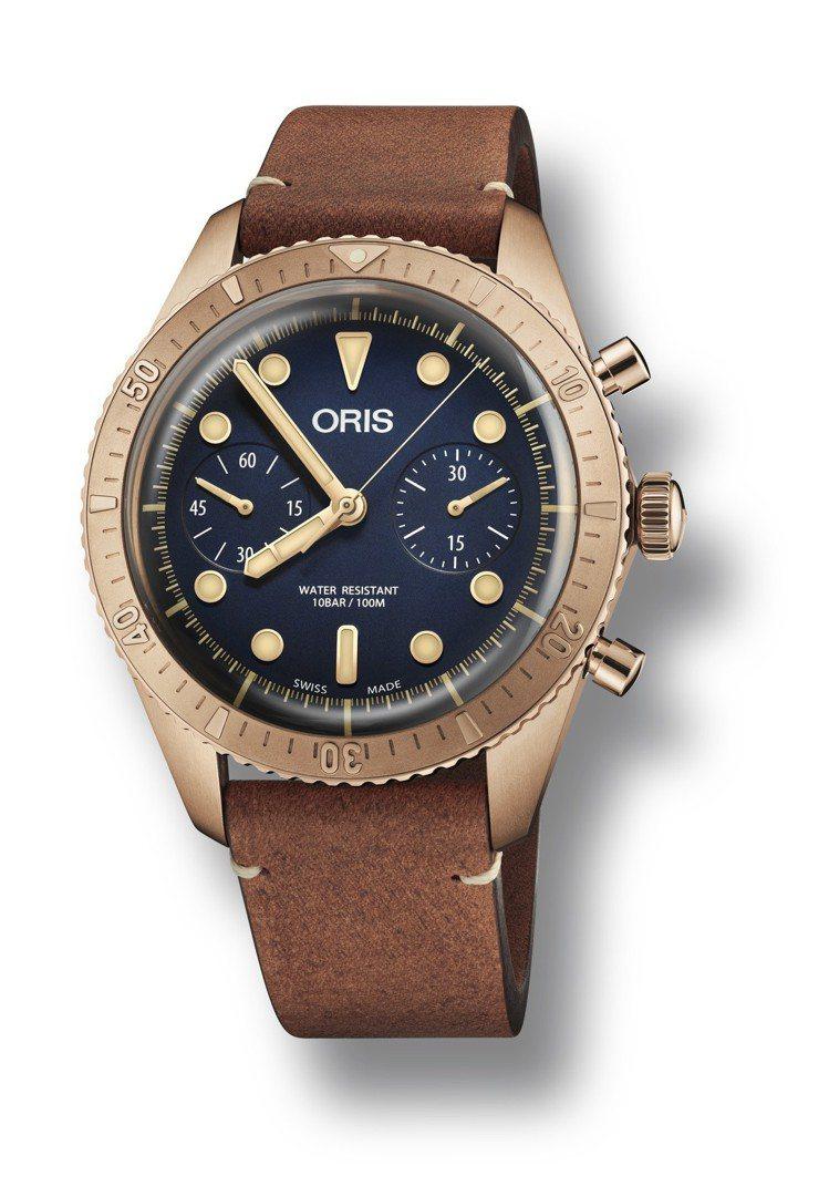 Oris Carl Brashear 計時碼表,青銅表殼與旋入式青銅表冠和按把,...