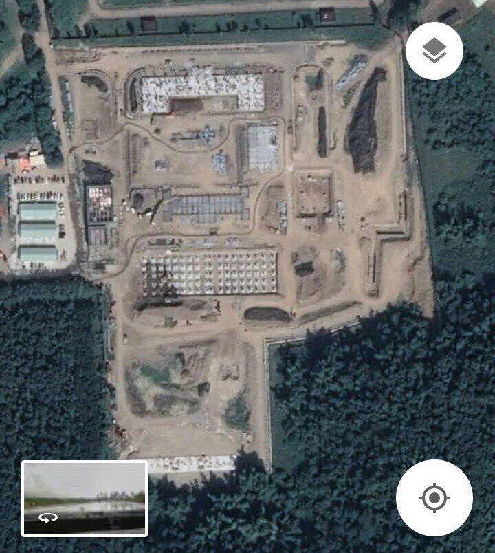 萬金營區飛彈陣地已施工一段時間,基地雛形已現。圖/翻攝Google Earth