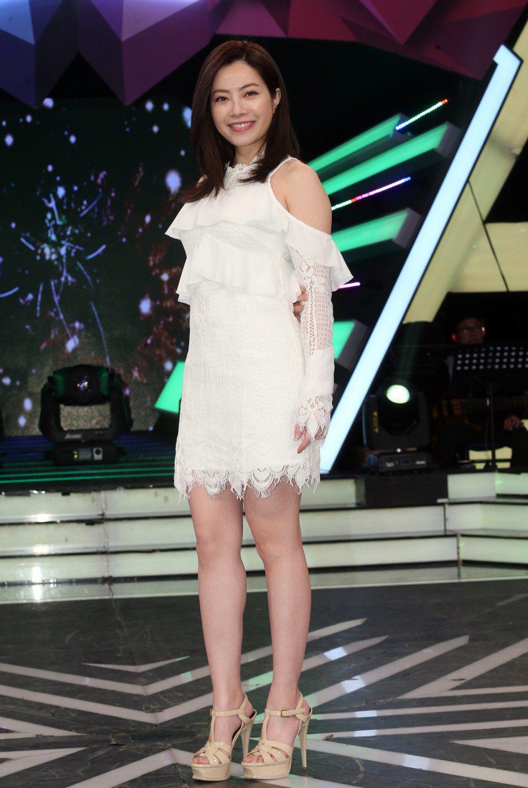 徐懷鈺參加吳宗憲主持的《綜藝大熱門》節目錄影宣傳演唱會。記者徐兆玄/攝影