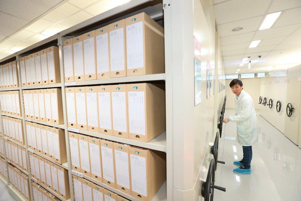 國家檔案局永久庫房具有防火、安全、穩定等特性。 圖/聯合報系資料照片