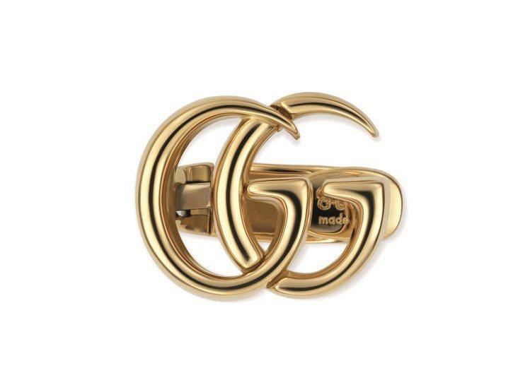 古馳18K黃金GG耳環單耳,32,500元。圖/古馳提供