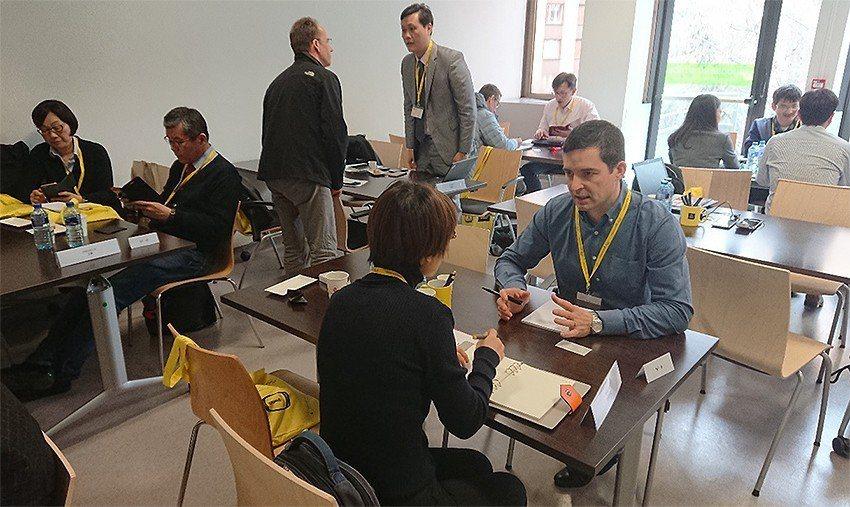 媒合會安排臺法廠商進行一對一洽談討論。 交通大學產業加速器中心/提供