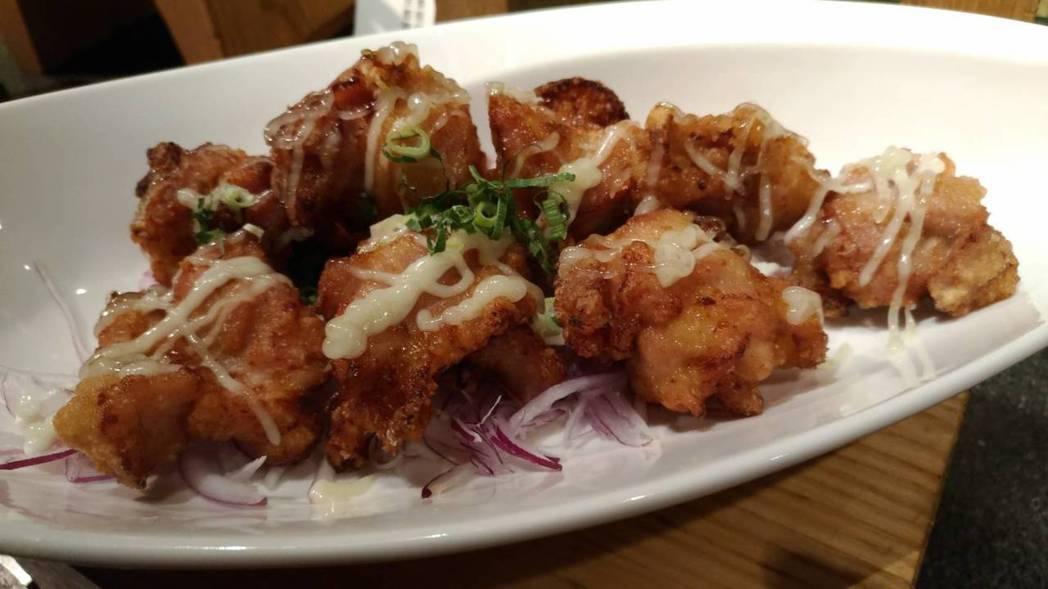 雞肉竜田揚柚子胡椒風味。  陳慧明 攝影