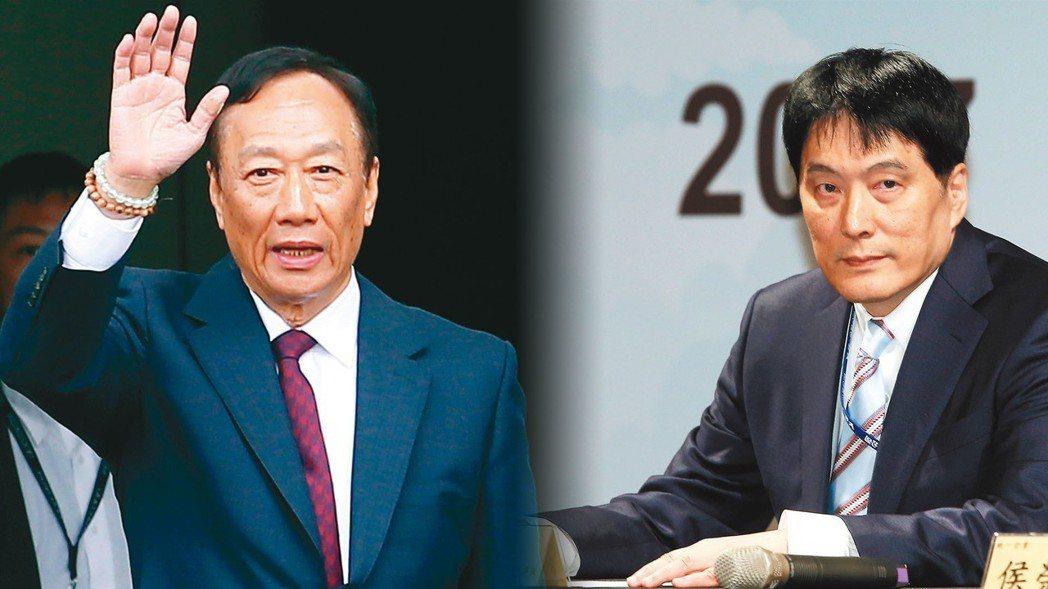 鴻海集團董事長郭台銘(左)、統一集團董事長羅智先 報系資料照